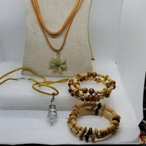 Boho Style, American Indian style necklace/Bracele